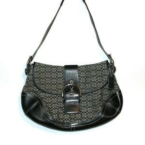 Coach signature shoulder bag vintage black medium